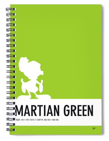 No15 My Minimal Color Code Poster Marvin Spiral Notebook