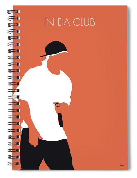 No153 My 50 Cent Minimal Music Poster Spiral Notebook