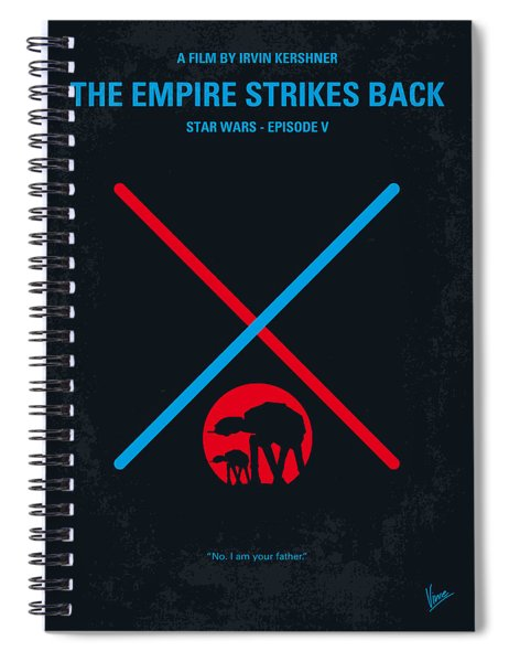 No155 My Star Wars Episode V The Empire Strikes Back Minimal Movie Poster Spiral Notebook