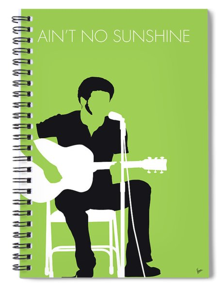 No156 My Bill Withers Minimal Music Poster Spiral Notebook