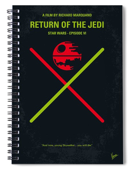 No156 My Star Wars Episode Vi Return Of The Jedi Minimal Movie Poster Spiral Notebook