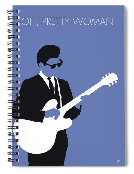 No158 My Roy Orbison Minimal Music Poster Spiral Notebook