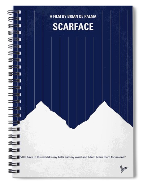 No158 My Scarface Minimal Movie Poster Spiral Notebook