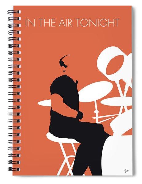 No163 My Phil Collins Minimal Music Poster Spiral Notebook