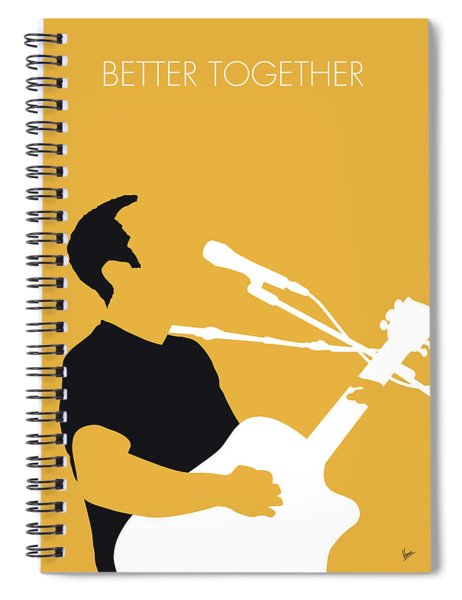 No174 My Jack Johnson Minimal Music Poster Spiral Notebook