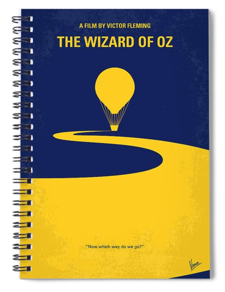 No177 My Wizard Of Oz Minimal Movie Poster Spiral Notebook