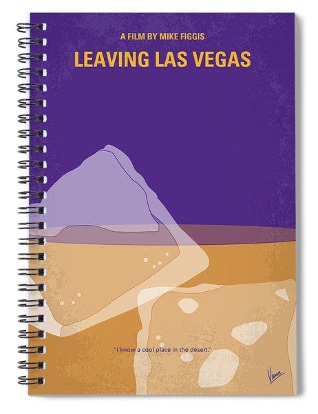 No180 My Leaving Las Vegas Minimal Movie Poster Spiral Notebook by Chungkong Art