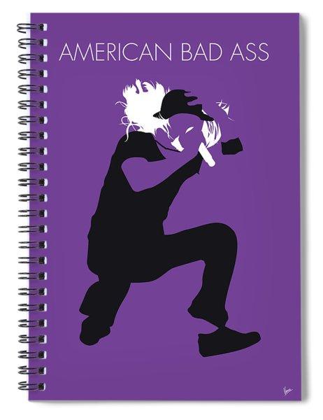 No181 My Kid Rock Minimal Music Poster Spiral Notebook
