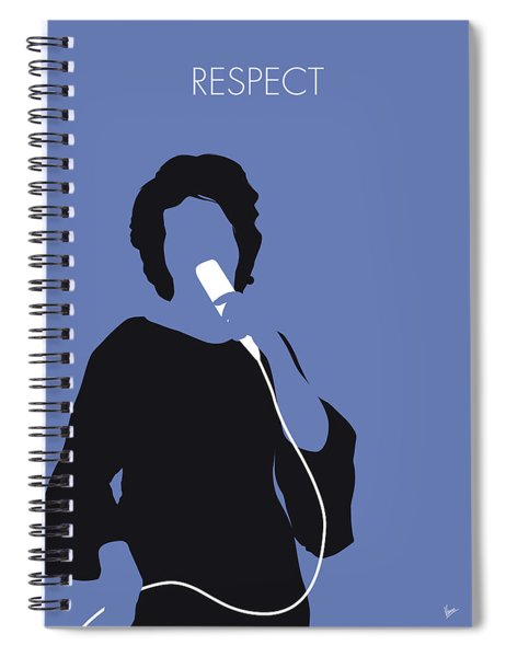 No188 My Aretha Franklin Minimal Music Poster Spiral Notebook