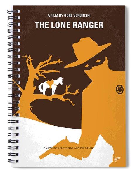 No202 My The Lone Ranger Minimal Movie Poster Spiral Notebook