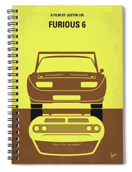No207-6 My Furious 6 Minimal Movie Poster Spiral Notebook