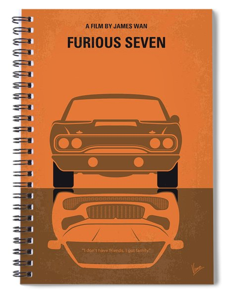 No207-7 My Furious 7 Minimal Movie Poster Spiral Notebook