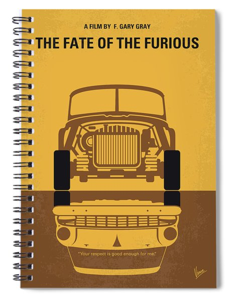 No207-8 My The Fate Of The Furious Minimal Movie Poster Spiral Notebook