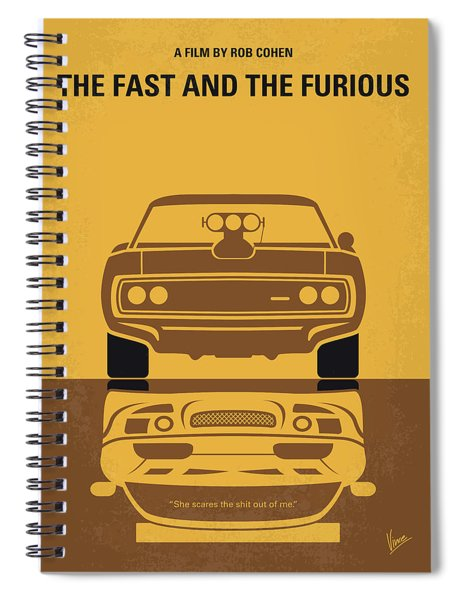 No207 My The Fast And The Furious Minimal Movie Poster Spiral Notebook