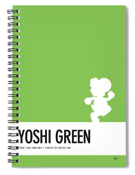 No36 My Minimal Color Code Poster Yoshi Spiral Notebook