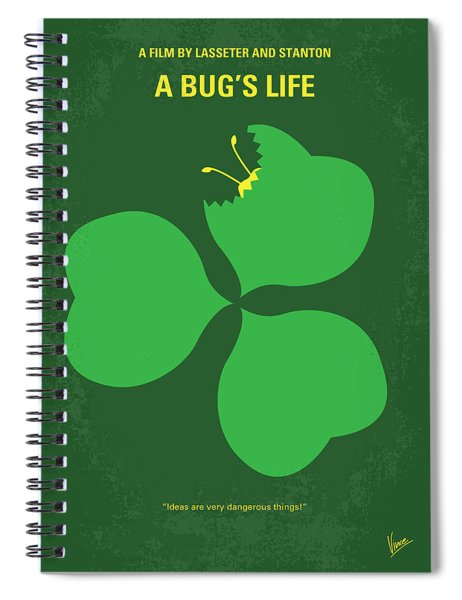 No401 My A Bugs Life Minimal Movie Poster Spiral Notebook
