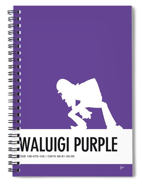 No42 My Minimal Color Code Poster Waluigi Spiral Notebook