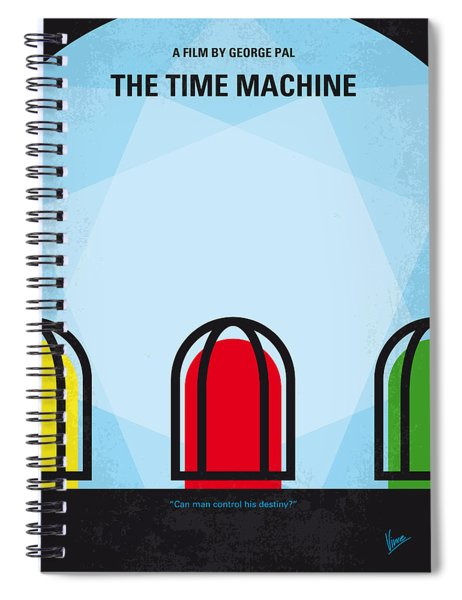No489 My The Time Machine Minimal Movie Poster Spiral Notebook