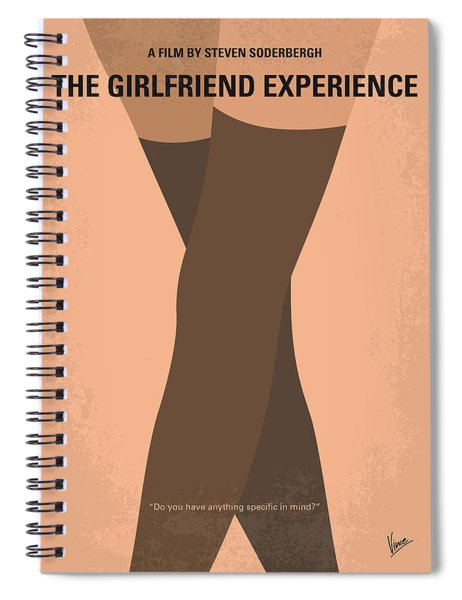 No438 My The Girlfriend Experience Minimal Movie Poster Spiral Notebook