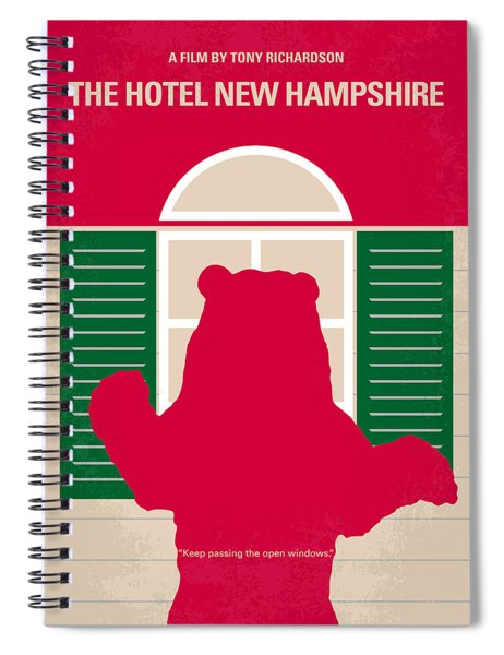No443 My The Hotel New Hampshire Minimal Movie Poster Spiral Notebook
