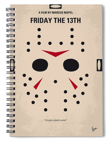 No449 My Friday The 13th Minimal Movie Poster Spiral Notebook
