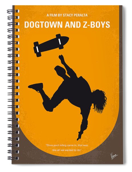 No450 My Dogtown And Z-boys Minimal Movie Poster Spiral Notebook