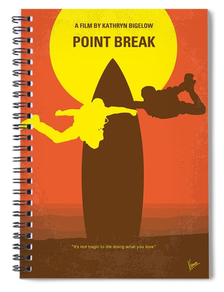 No455 My Point Break Minimal Movie Poster Spiral Notebook by Chungkong Art