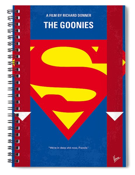 No456 My The Goonies Minimal Movie Poster Spiral Notebook