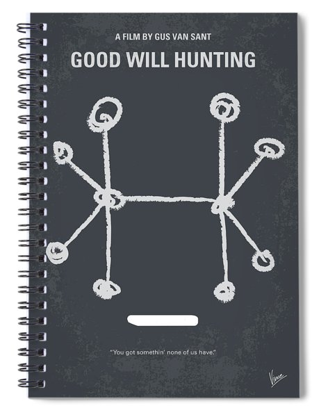 No461 My Good Will Hunting Minimal Movie Poster Spiral Notebook