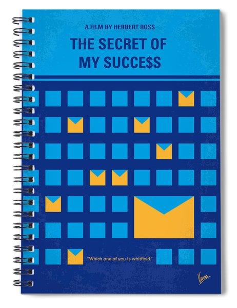 No464 My The Secret Succes Minimal Movie Poster Spiral Notebook