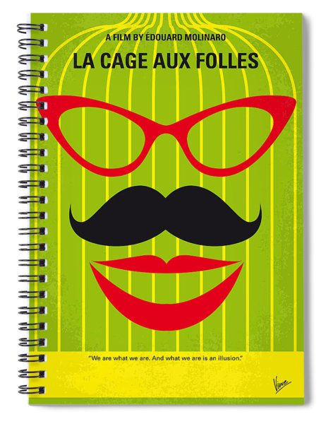 No473 My La Cage Aux Folles Minimal Movie Poster Spiral Notebook