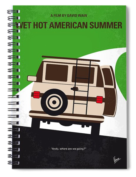 No481 My Wet Hot American Summer Minimal Movie Poster Spiral Notebook