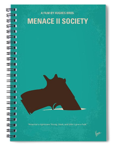 No484 My Menace II Society Minimal Movie Poster Spiral Notebook