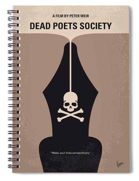 No486 My Dead Poets Society Minimal Movie Poster Spiral Notebook