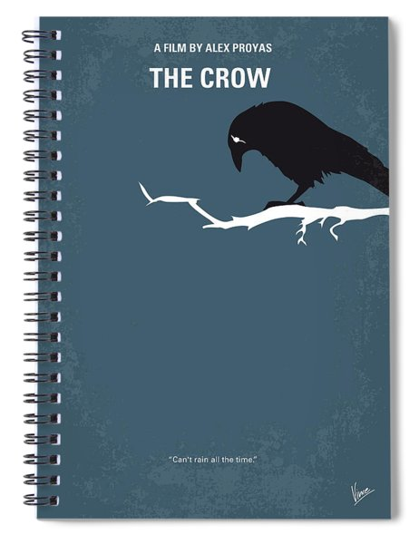 No488 My The Crow Minimal Movie Poster Spiral Notebook