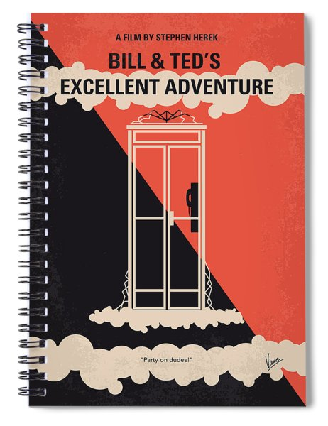 No490 My Bill And Teds Excellent Adventure Minimal Movie Poster Spiral Notebook
