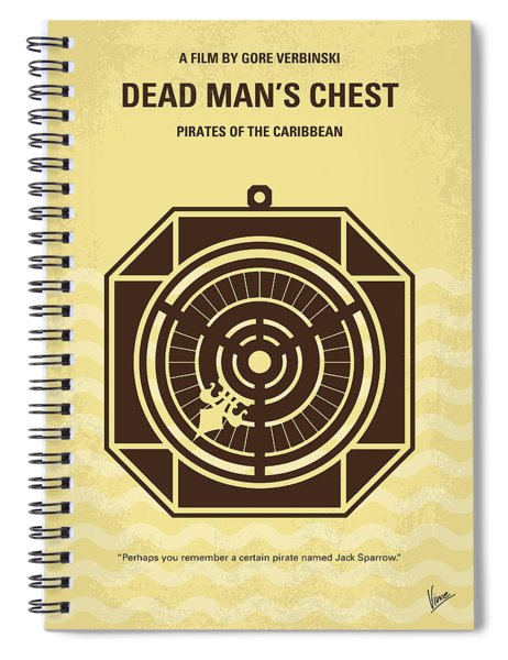No494-2 My Pirates Of The Caribbean II Minimal Movie Poster Spiral Notebook