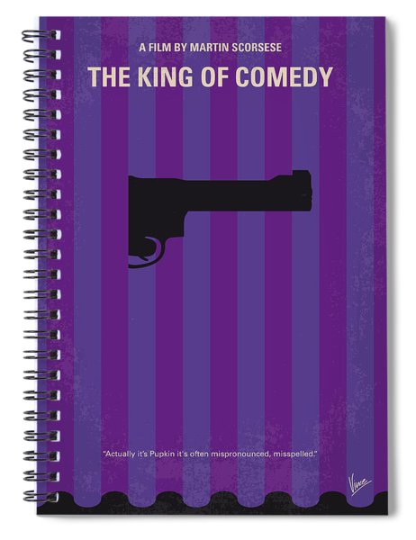 No496 My The King Of Comedy Minimal Movie Poster Spiral Notebook