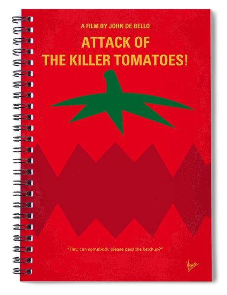 No499 My Attack Of The Killer Tomatoes Minimal Movie Poster Spiral Notebook