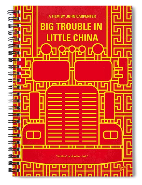 No515 My Big Trouble In Little China Minimal Movie Poster Spiral Notebook