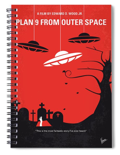 No518 My Plan 9 From Outer Space Minimal Movie Poster Spiral Notebook