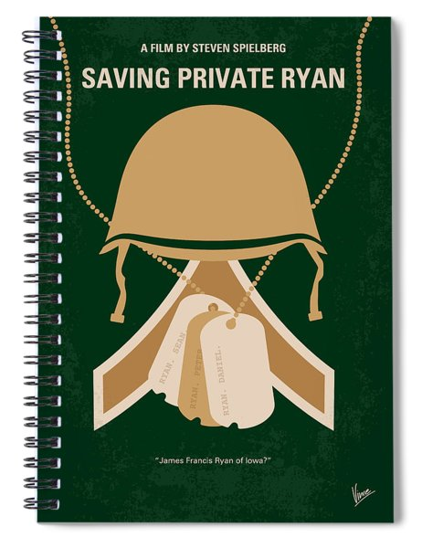 No520 My Saving Private Ryan Minimal Movie Poster Spiral Notebook