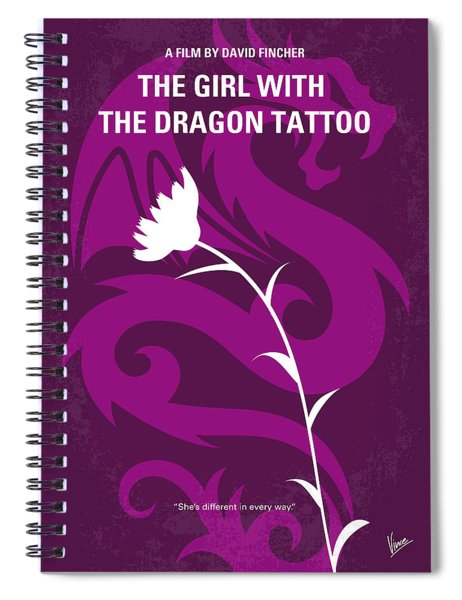 No528 My The Girl With The Dragon Tattoo Minimal Movie Poster Spiral Notebook
