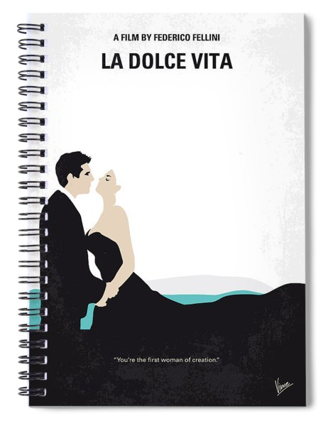 No529 My La Dolce Vita Minimal Movie Poster Spiral Notebook