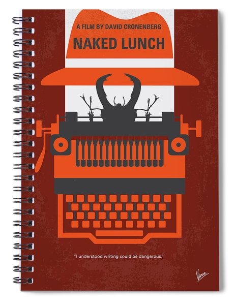 No534 My Naked Lunch Minimal Movie Poster Spiral Notebook