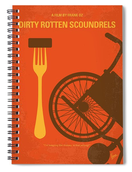 No536 My Dirty Rotten Scoundrels Minimal Movie Poster Spiral Notebook