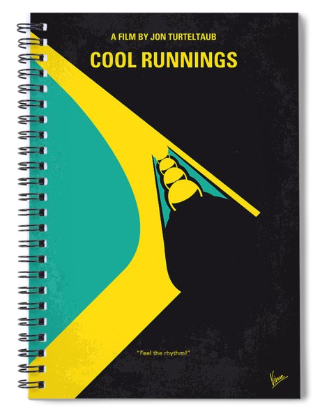 No538 My Cool Runnings Minimal Movie Poster Spiral Notebook