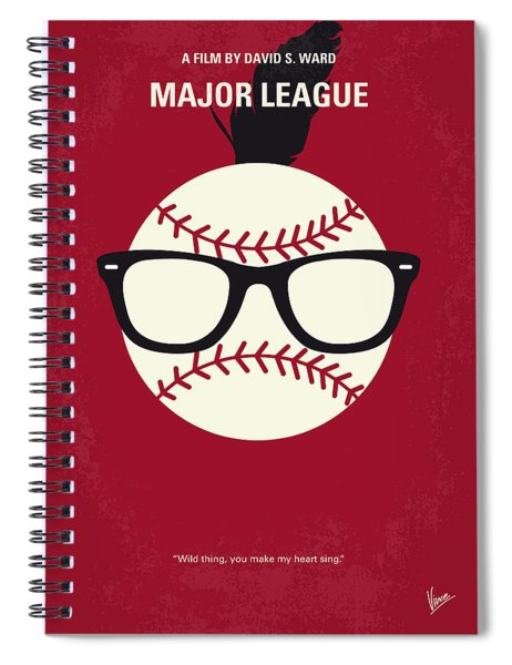 No541 My Major League Minimal Movie Poster Spiral Notebook
