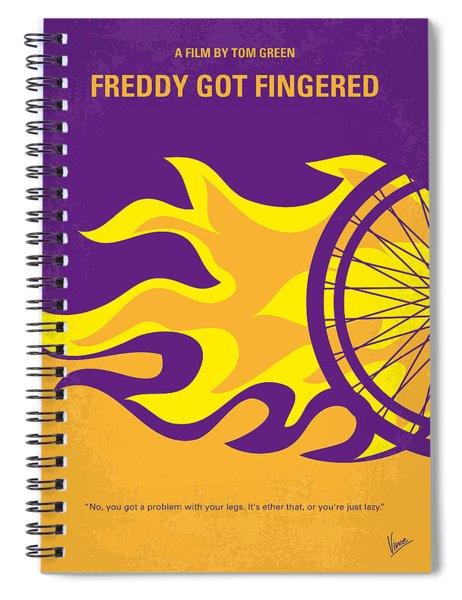 No550 My Freddy Got Fingered Minimal Movie Poster Spiral Notebook