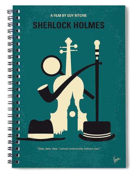 No555 My Sherlock Holmes Minimal Movie Poster Spiral Notebook